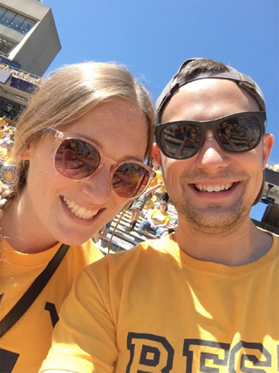 Verena and Lars_WVU Football game