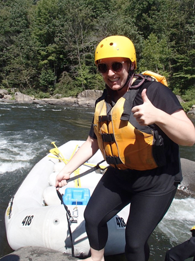 Verena white water rafting
